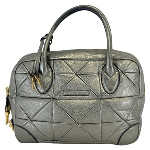 Marc Jacobs Metallic Silver Quilted Hobo Bag