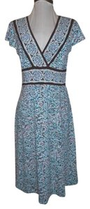 BCBG Max Azria short dress brown & blue print Knit on Tradesy