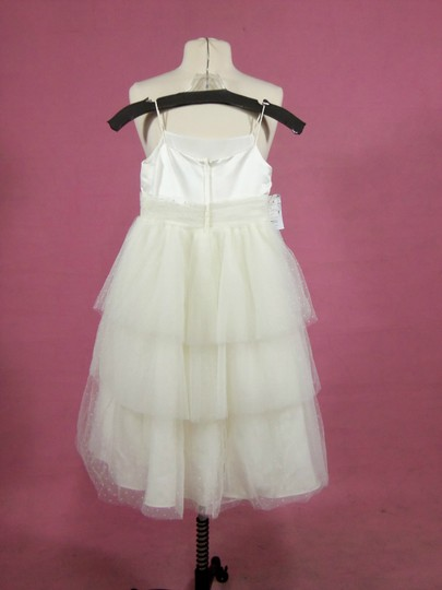 Alfred Angelo Ivory/Pink 6617 Size 7 Dress