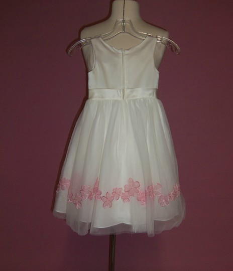 Alfred Angelo Ivory/Tea Rose Satin 6637 Formal Bridesmaid/Mob Dress Size OS (one size)