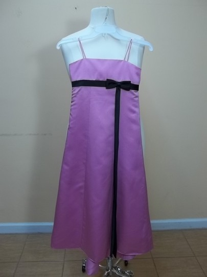 Alfred Angelo Pink Sorbet/Black Satin 6133mm Formal Bridesmaid/Mob Dress Size OS (one size)