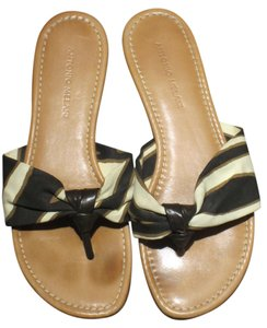Antonio Melani Brown and Cream Sandals