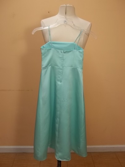 Alfred Angelo Seafoam Satin 6333 Formal Bridesmaid/Mob Dress Size OS (one size)