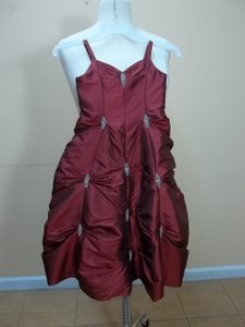 Alfred Angelo Ruby Taffeta 6465 Formal Bridesmaid/Mob Dress Size OS (one size)