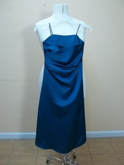 Alfred Angelo Tealness Satin 6493mm Formal Bridesmaid/Mob Dress Size OS (one size)