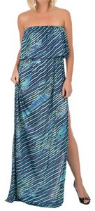 Blue Turquoise Maxi Dress by Just Cavalli Beach Cover-up Summer Spring/summer Collection 2015 Made In Italy Italian Made Italian Designer Long Floor Length