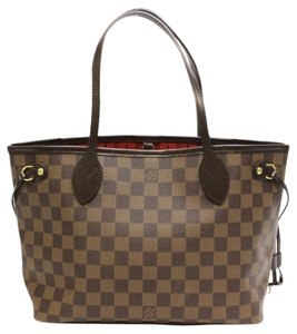 Louis Vuitton Neverfull Pm Tote in Damier ebene