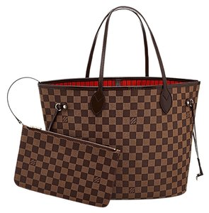 Louis Vuitton Neverfull Mm Damier Canvas Leather Box Neverfull Damier New Pouch Tote
