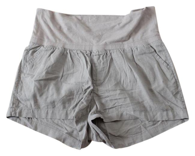 Item - Brown New Roll-over Linen Blend Shorts Size 16 (XL, Plus 0x)