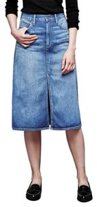 Gap Long Cotton Jean Skirt Blue