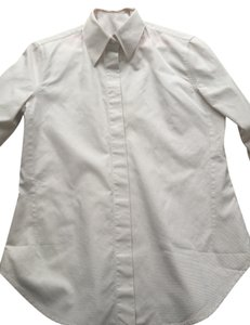 Loro Piana Buttondown Button Down Shirt micro beige/white check