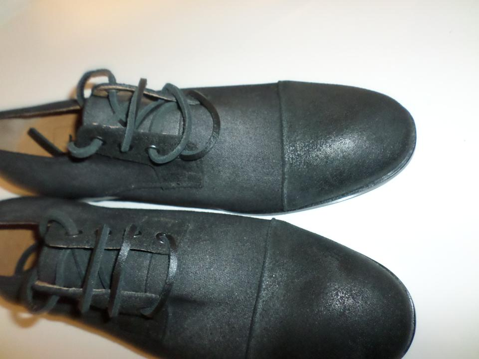 Saks Fifth Avenue Grey Label Leather Wing Tip Oxford Laced M Boots Booties