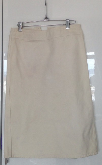 Gucci Denim A-line Pencil Skirt Off-White