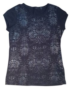 Tahari Embellished T Shirt navy