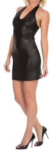 Just Cavalli short dress Black Beach Cover-up Summer Halter Open on Tradesy
