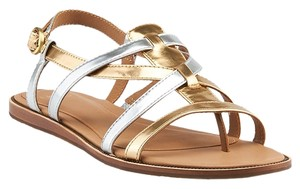 UGG Australia Leather Silver/Gold Sandals