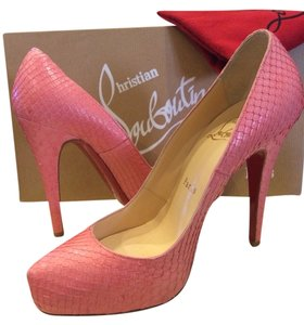 Christian Louboutin Pump Python Leather Heel Pink Pumps