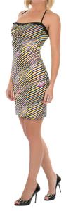Just Cavalli short dress Black and Yellow on Tradesy