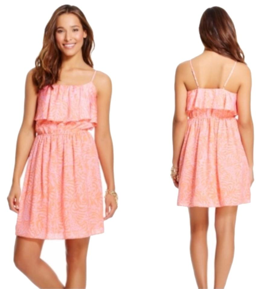 Lilly Pulitzer for Target Jungle Orange Above Knee Short Casual ...