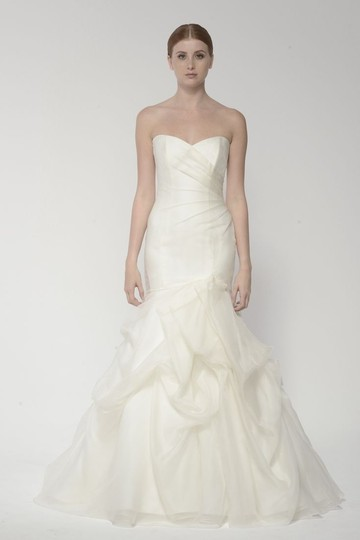 Monique Lhuillier Ivory Silk Chiffon Bl14190 Destination Wedding Dress Size 0 (XS)