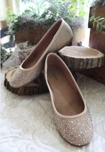 Style & Co Champagne Gold Angelynn Flats Sparkle Giltter Formal Size US 7