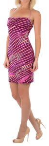Just Cavalli short dress Pink Summer Halter Mini Tight on Tradesy