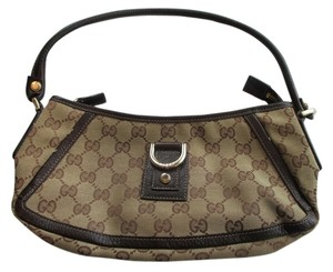 Gucci Monogram Brown Baguette