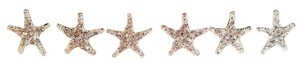 Bridal Starfish Rhinestone Hair Pins Set Of 6