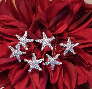 Adoralbe Bridal Starfish Hair Pins Set Of #6