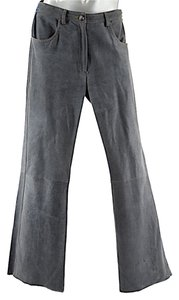 LUCIEN PELLAT-FINET Pellat Finet Barneys Boot Cut Pants Charcoal Grey