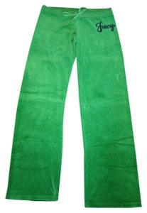 Juicy Couture Velour Draw String Sweat Athletic Pants Green