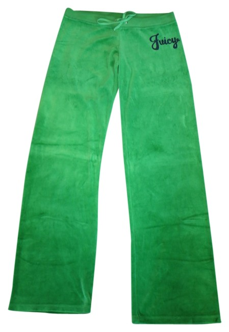 Juicy Couture Velour Draw String Sweat Sweat Sweat Athletic Pants Green