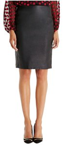Diane von Furstenberg Dvf Leather Skirt BLACK