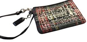 Coach Poppy Wristlet in Red & Black Plaid