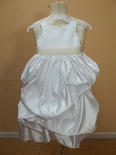 Alfred Angelo White 6433 Formal Bridesmaid/Mob Dress Size OS (one size)