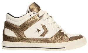 Converse Leather Signature White & Gold Athletic