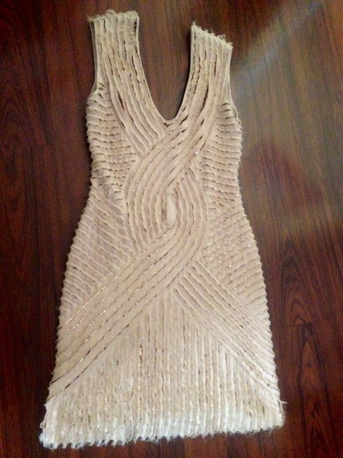 Roberto Cavalli Sequine Italy Deconstracted Dress