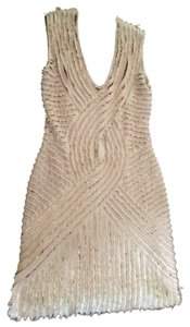 Roberto Cavalli Sequine Cocktail Italy Deconstracted Dress