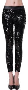 Dear-Lover Skinny Sequin Leggings Disco Pants Women Skinny Pants Ladies Skinny Jeans-Light Wash
