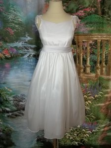 Alfred Angelo White Taffeta 6609 Formal Bridesmaid/Mob Dress Size OS (one size)