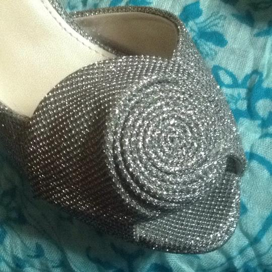 Caparros Silver Sparkle Metallic Formal