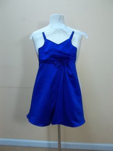 Alfred Angelo Cobalt Satin 6650 Formal Bridesmaid/Mob Dress Size OS (one size)