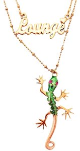 Betsey Johnson Betsey Johnson Lounge Lizard Layer Necklace Gecko