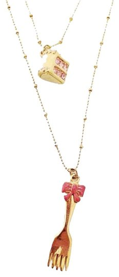 Betsey Johnson Betsey Johnson Birthday Cake Fork Princess Necklace