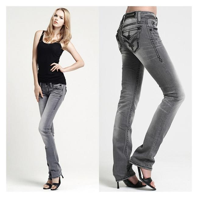 Item - Grey Coated New with Tags Elaina Stretch X 34 Straight Leg Jeans Size 26 (2, XS)