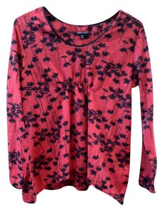 Ellen Tracy Ellen Tracy Red and Black Floral Fleece Pajama Set - Size Medium