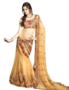 Indian embroidered lehenga Embroidery Mermaid Skirt Dress
