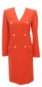Valentino Suit Shift Orange Wool Dress