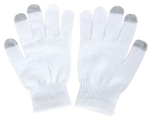 Other Magic Stretch White Touch Screen Full Finger Gloves Free Shipping