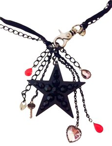 Betsey Johnson Betsey Johnson Black Star Long Steampunk Gothic Necklace